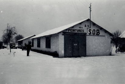 Les bâtiments en 1956